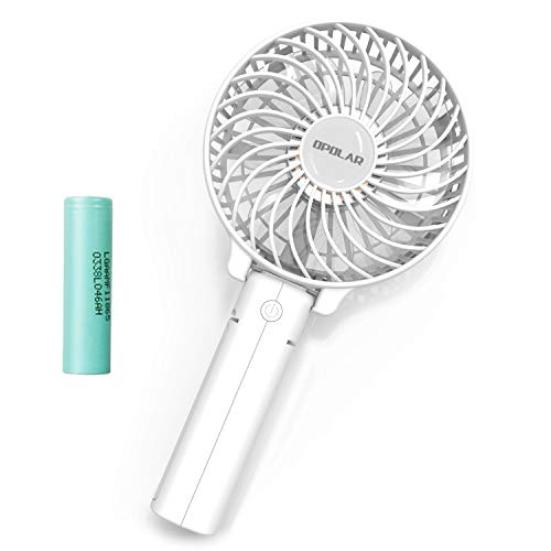OPOLAR Small Hand Held Battery Operated USB Fan, Personal Portable Rechargeable Fan with 2200mAh...