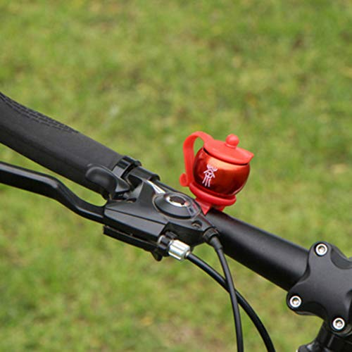 MONLEYTA 4Pieces Teapot Shape Bike Bell Aluminum Alloy Bicycle Handlebar Alarm Cycling Horn