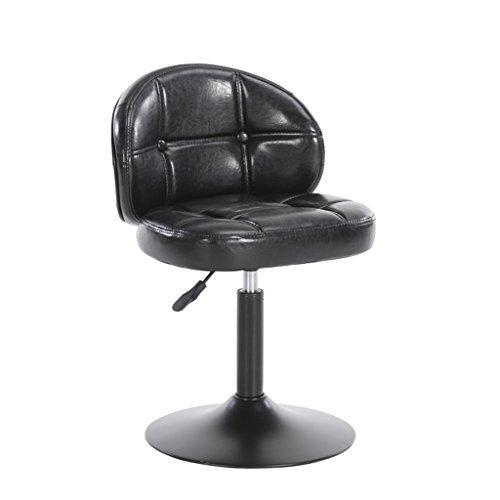 Guo shop- Style européen, coussins moelleux, peut être levé et abaissé Coussin en cuir artificiel Bar Chaise haute Creative Chaise en bois de style européen Tabouret de bar Vintage Hauteur 38-54cm Bon