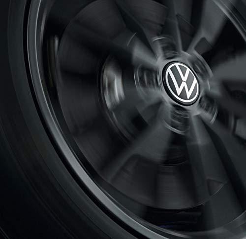 Volkswagen 000071213D Nabenkappe für LM-Felge, dynamisch, mit stehendem Logo im Fahrbetrieb