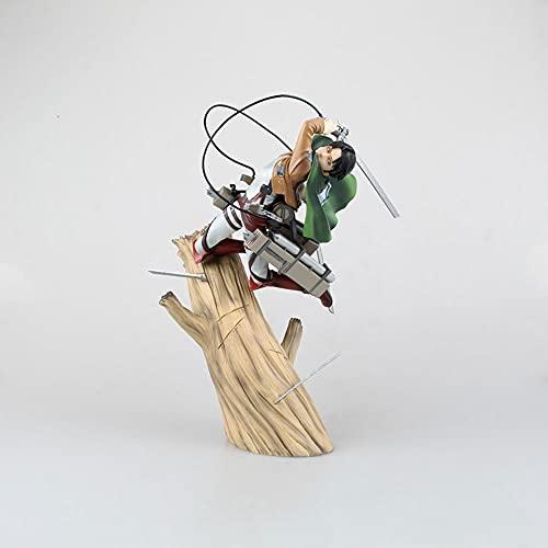 HYKCSS 進撃の巨人アニメ人形リヴァイ・アッカーマン限定フィギュア高品質版スタチュー人形彫刻玩具デコレーションモデルフィギュアフィギュア高さ25cm