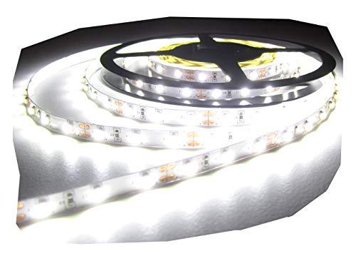 SA KIT COMPLETBande LED Blanc Neutre avec 600 LED 10 m Blanc Froid avecbloc d'alimentation 5 A/60 Watts