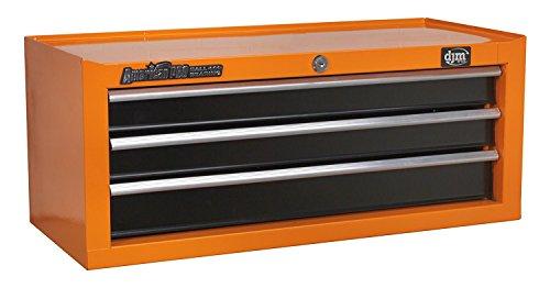 DJM Direct AP22309BB-O Werkzeugkiste mit 3 Schubladen, Stahl, Orange/Schwarz, 3D Middle Add-On