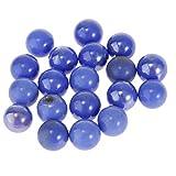 B Blesiya 20 canicas de cristal transparente, juguete de mármol, 20 x 16 mm, color azul
