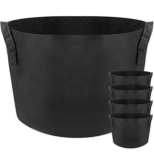 PrimeMatik - Sac jardinière pour Plantes en Croissance Pot de Tissu de 40 litres 38x30cm 5-Pack