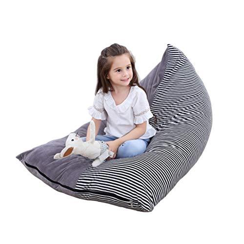 Stofftier Aufbewahrung Sitzsack - Große Sitzsack Stühle für Kinder Plüschtier Aufbewahrung, Kapazität Kristall Samt Sitzsack Beutel Kinder Streifen Stuhl