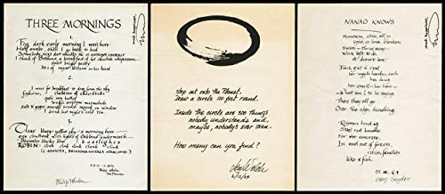 Three Poem Broadsides