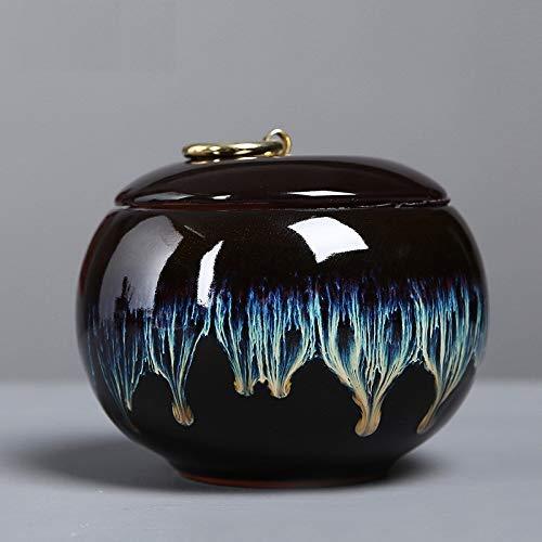 YANJ Urnas de cerámica, urnas funerarias para Cenizas con Capacidad para 500 ml de Cenizas para Cenizas humanas, pequeñas