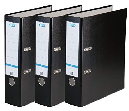Elba Odner smart Pro, Kunststoff, 8 cm breit, schwarz, 3er Pack