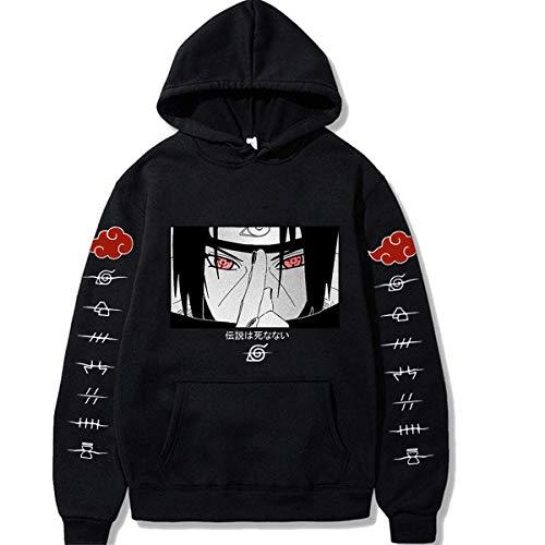 JIAJIA YL Japanese Anime Hoodie Pullover Sasuke Itachi Streetswear Herren Kapuzenpullover Casual Sweatshirt