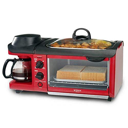 ELECT Frühstücksmaschine, Hausofen, Brotmaschine, Teppanyaki DREI in einem,rot,Einheitsgröße