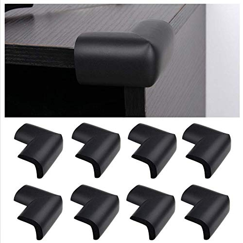 Table Corner Guards - 8 Pack, Black - Protects Your Baby /...
