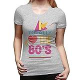 Brendas I Totally Love The 80'S Mujeres Algodón Hermosa Camisa Negro