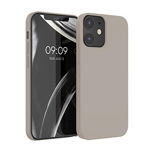 kwmobile Hülle kompatibel mit Apple iPhone 12/12 Pro - Hülle Handyhülle gummiert - Handy Hülle in Taupe
