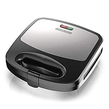 Black+Decker 3-in-1 WM2000SD 3-in-1 Waffle Grill & Sandwich Maker Compact Design Black/Silver
