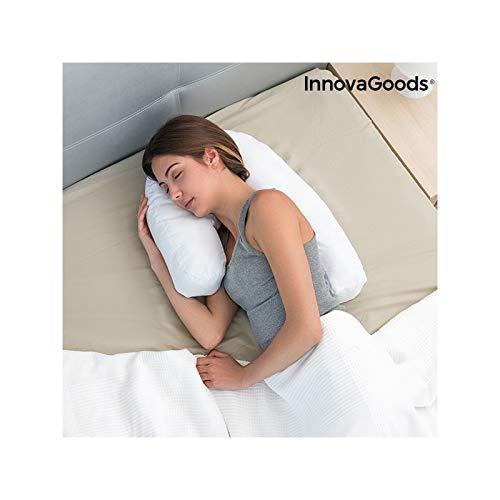 InnovaGoods Almohada Ergonómica de Postura Lateral U, Blanco, 39 x 57 x 14 cm