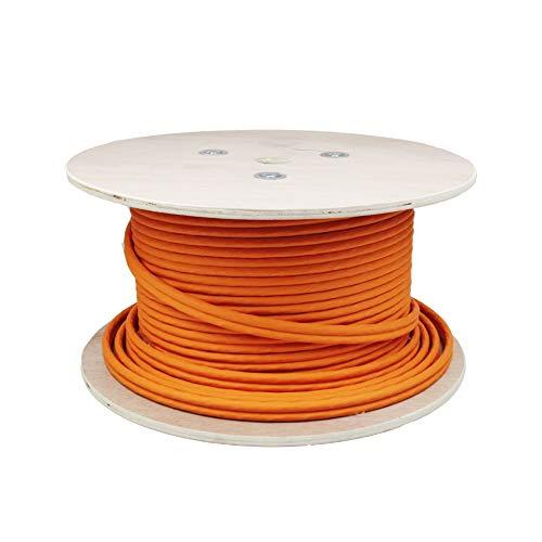 LW Connect Duplex Highquality Gigabit Netzwerkkabel S/FTP PIMF 1000 MHz Cat7 4x2xAWG23 LSZH Geschirmtes Installationskabel 100m Orange