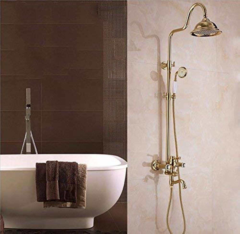 GFF Dusche Dusche MultifunktionsheBesteange Dusche Kupfer Retro Duschset Handbad Badewanne Dusche Mischbatterie