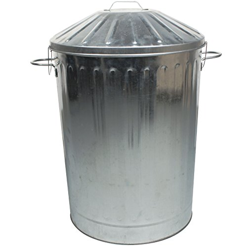 CrazyGadget® 90 Litre 90L Extra Large Colour Metal Dustbin Kitchen House Garden Storage Unit Bin...