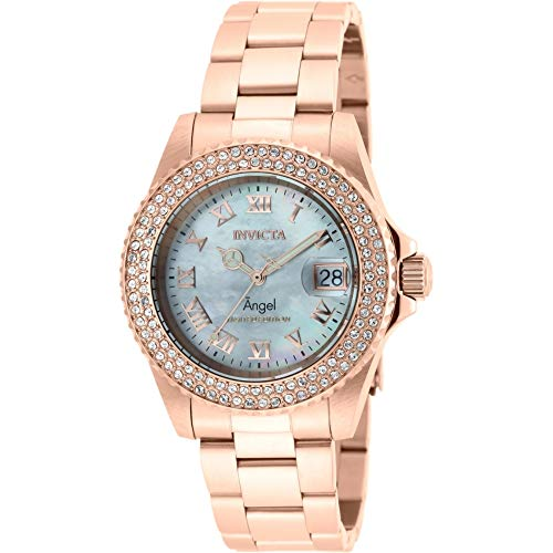 Invicta Women's Angel Cruiseline Limited Edition 40mm Stainless Steel Crystal Accented Swiss Quartz Watch (Rose Gold)