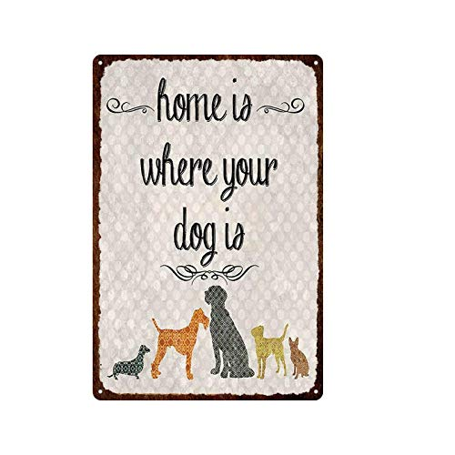 Guangzhouf Cartel de Chapa Reglas para Mascotas Placa de Metal Retro Decoración de la Pared del hogar Cartel Placas Tienda de Mascotas Decoración de jardín 20x30cmMetalSign A