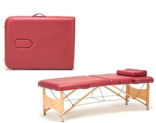 JHKGY Beweeglijk opvouwbaar massage-bed, 186 cm lang, 70 cm breed, in hoogte verstelbare massagetafel 2 vouwen massagebed bed bed Facial Cradle Salon bed W/Carry Case