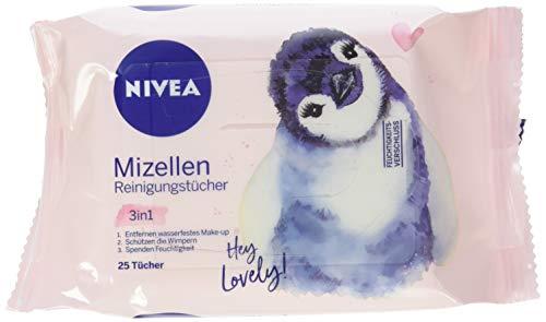Nivea 3-in-1 Mizellen Reinigungstücher, sanfte und Abschminktücher spenden Feuchtigkeit und Schutz, 6er Pack (6 x 25 Stück)