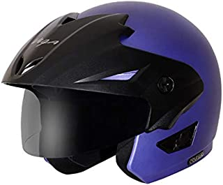 Vega Cruiser W/P Open Face Helmet (Dull Blue, Medium)