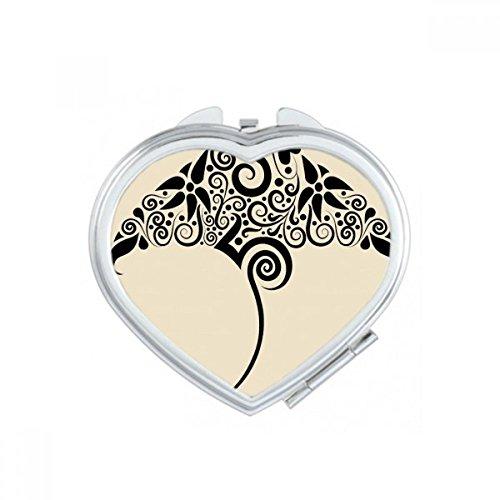 DIYthinker Poisson Résumé Coeur d'animal Maquillage Compact Miroir de Poche Portable Mignon Petit Cadeau Miroirs Main Multicolor