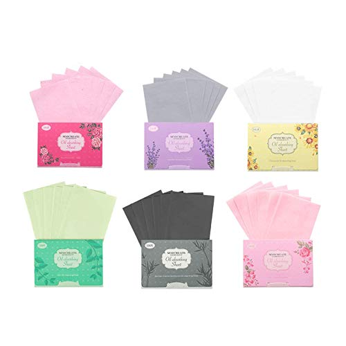 Papel absorbente de aceite facial LuLyL, 600 hojas de toallas de papel absorbentes de aceite natural, película de papel absorbente de aceite facial de tejido para hombres y mujeres