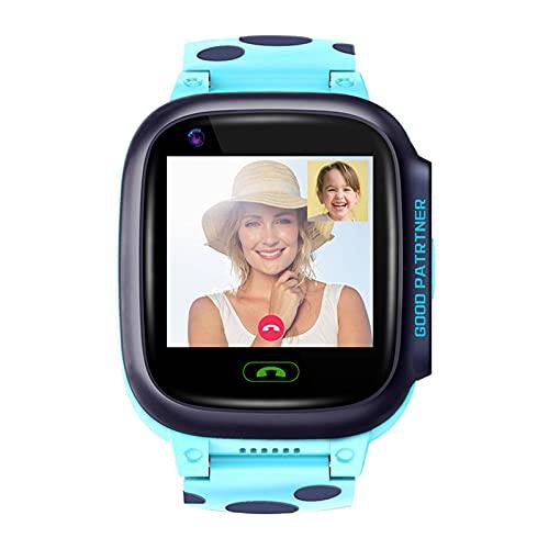 N\C Reloj electrónico de teléfono inteligente para niños 4G todo Netcom videollamada GPS posicionamiento 52g pulsera rosa