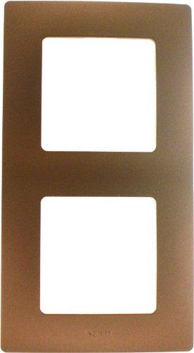 Legrand LEG96718 - Placca a 2 posti, linea Niloe, colore: Marrone