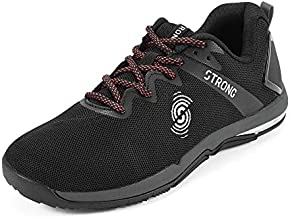 Strong iD Fly Fit Athletic Workout Shoes for Women with High Impact Support, Black A, 6.5