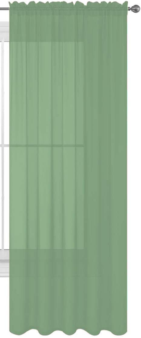 Luxury Discounts 1 PC Direct store Solid Rod Pocket Sheer Curtain OFFer Window Trea