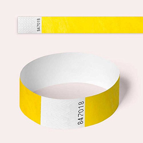 Tyvek Wristbands, Various Colours, 100 Pack by AA Wristbands for Parties,...