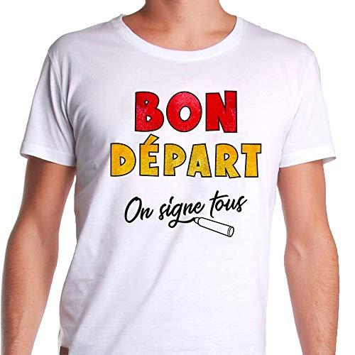 Tee-shirt dédicace départ