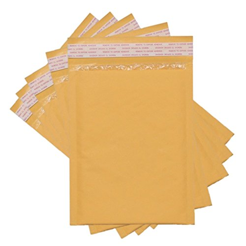 Sales4Less #000 Kraft Bubble Mailers 4X8 Inches Shipping Padded Envelopes Self Seal Waterproof Cushioned Mailer 10 Pack