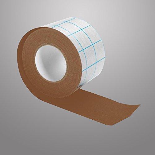 Neschen filmoplast T - Braun - 8cm - Selbstklebendes Baumwollgewebe ***Perfekt zum Reparieren von Büchern***