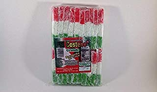 EL COSTEÑO Coconut Slice Candy Bars (20 Traditional Mexican-Style Moist Coconut Bars) Authentic Mexican Candy with Free Chocolate Kinder Bar Included