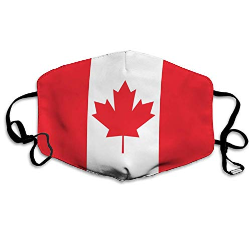 Canada Flag Icon Dust Washable Reusable Filter and Mouth Warm Windproof Cotton Face