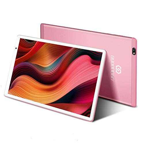 Tablet in Offerta Android 10.0 Certificato Google GMS Tablet PC 4GB RAM 64GB/128GB Espandibili Tablet 10 Pollici con Wifi Offerte 8500mAh 4G Dual 8MP Fotocamera Tablet Android Bluetooth OTG(Rosa)
