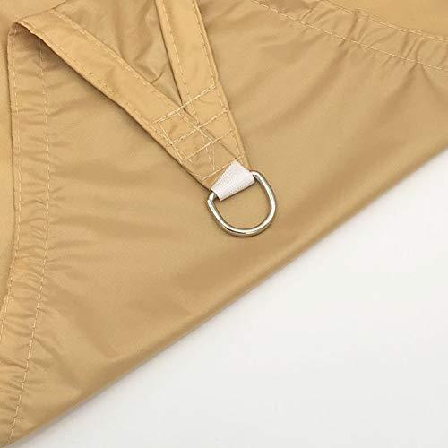Toldos Exterior Sonda Amarillo Triángulo Shade Spade Impermeable con Aluminio D-Anillos para Patio Al Aire Libre Patio De Jardín, Material De Paño Oxford, Premium D(Size:5X5X5m/16.4X16.4X16.4ft)