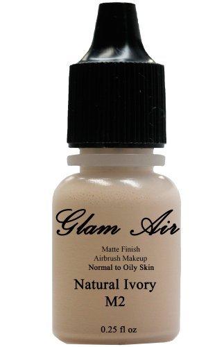 Glamair Base maquillaje base agua mate M2 marfil natural