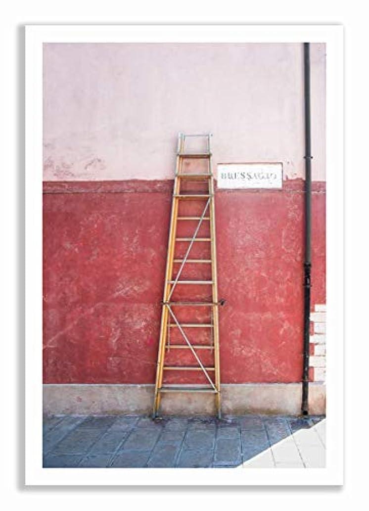 Via Bessagio, Black Satin Aluminium Frame, Full Format, Multicolored, 40x60