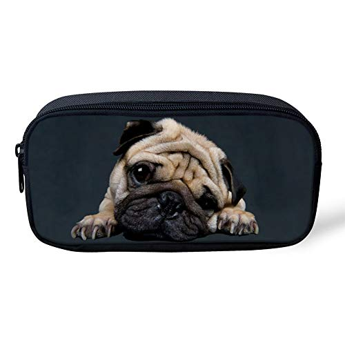 Condizionatore mobile Astucci Borsa Penna del Box di Matita del Lupo Animale del Designer per Ragazzi e Ragazze Adolescenti (Color : Funny Puppy Dog)