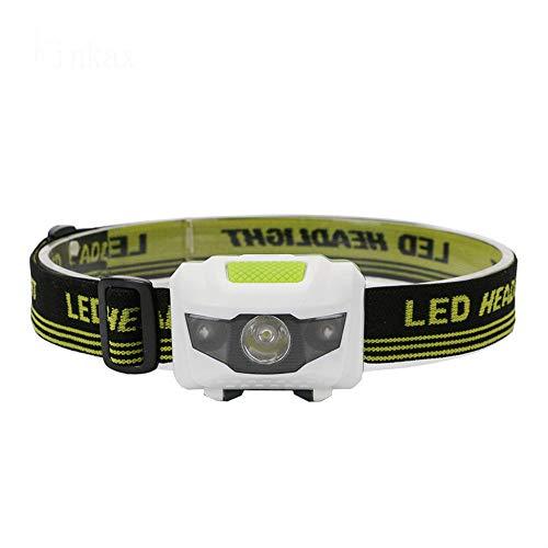 letaowl - Linterna LED de luz roja + luz blanca de 4 modos de alta potencia de 300 lúmenes, linterna de cabeza de linterna de cabeza Aaa