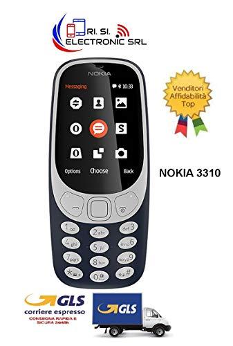Nokia 3310 Telefono Cellulare, Marchio Tim, 16 MB, Blu Scuro [Italia]