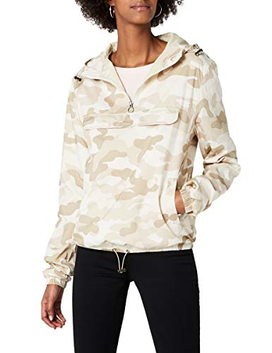 Urban Classics Damen Ladies Camo Pullover Jacke, Mehrfarbig (Sand 00867), Small (Herstellergröße: S)