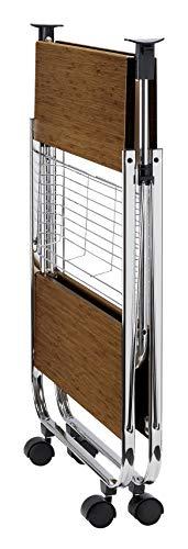 Wenko 713003100 Servierwagen Dinett Deluxe Walnuss Küchenwagen – Beistellwagen- zusammenklappbar - 4