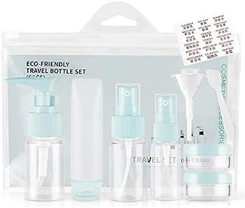 Lcrunone Refillable Cosmetic Travel Bottles Set